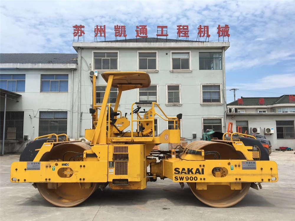 二手13吨酒井双钢轮SW900压路机